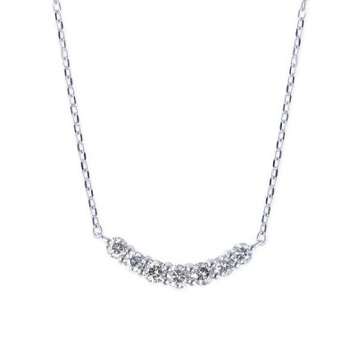 K10ホワイトゴールドダイヤモンドネックレス
