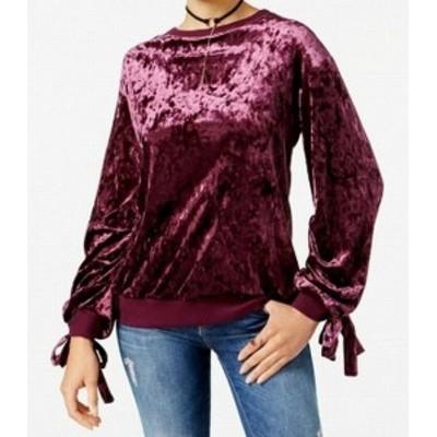 ファッション トップス Gypsies & Moondust NEW Purple Womens Medium M Velvet Crewneck Sweater