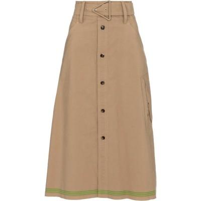 ボッテガ ヴェネタ Bottega Veneta レディース ひざ丈スカート スカート high-rise midi skirt Beige/Green