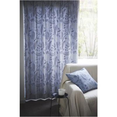 サーナヤオッリ 既製カーテン ブロッサム ブルー 幅100×丈135cm J1019