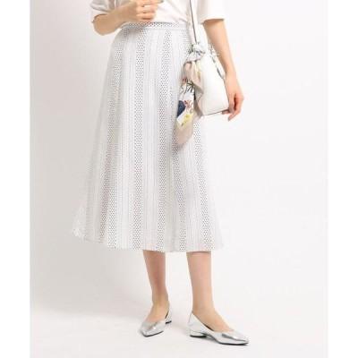 INDIVI / インディヴィ [S]【マシンウォッシュ】アソートプリントロングスカート