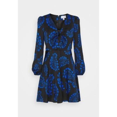 ミリー ワンピース レディース トップス TOSSED PAISLEY DRESS - Cocktail dress / Party dress - black/azure