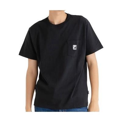 フィラ(FILA) メンズ ポケ付きTシャツ ブラック FM5191 08 半袖 トップス カジュアルウェア トレーニング スポーツウェア クルーネック