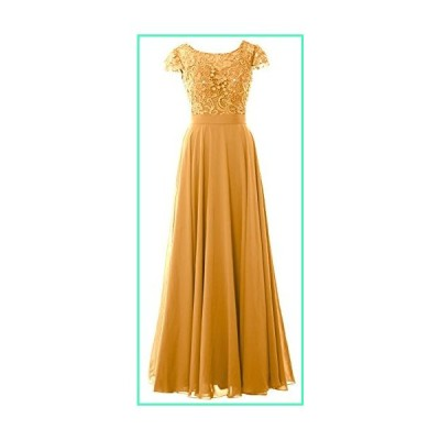 MACloth Women Mother of Bride Dresses Cap Sleeves Wedding Bridesmaid Rehearsal (Custom Made, Gold)並行輸入品