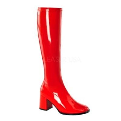FUNTASMA(Pleaser) GOGO-300 赤 レッド ニーハイブーツ GOGOブーツ コスプレ用ブーツ イベント 衣装 キャンギャルブーツ ◆取り寄せ