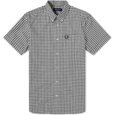 フレッドペリー Fred Perry Authentic メンズ 半袖シャツ トップス Gingham Short Sleeve Shirt Rain