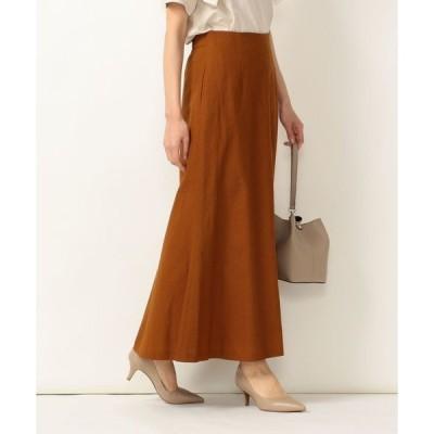 スカート SHIPS any:リネンコットン フレアマキシスカート◇