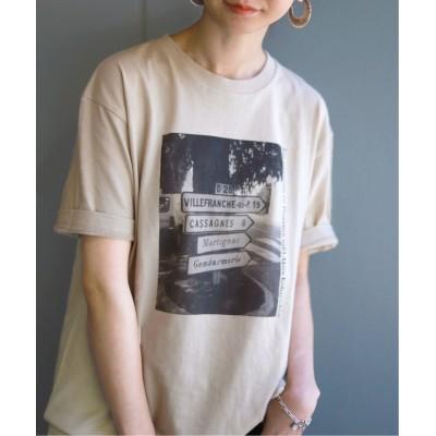 【イエナ】 SLOBE別注PARIS フォトTシャツ◆ レディース ベージュ フリー IENA