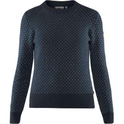 フェールラーベン レディース ニット・セーター アウター Fjallraven Women's Ovik Nordic Sweater Dark Navy