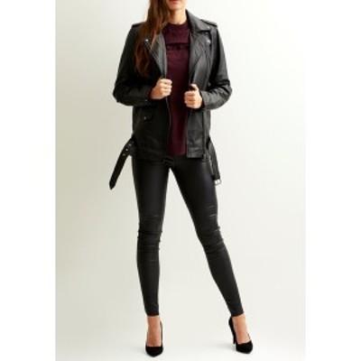 オブジェクト レディース ジャケット&ブルゾン アウター Leather jacket - black black