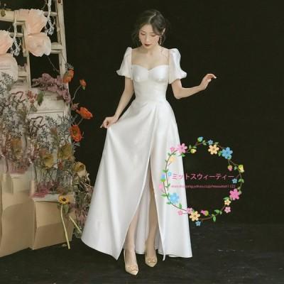 花嫁 ドレス ウェディングドレス 高級感 ワンピース ビーチフォト後撮り 海外挙式 二次会 wedding dress 結婚式 ブライダル パーティードレス