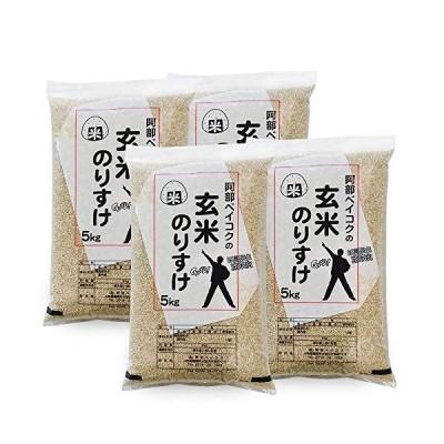 玄米 20kg (5kgx4袋) 玄米のりすけ 山形県産
