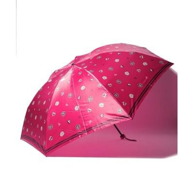 【ムーンバット】 LANVIN COLLECTION 婦人 ミニ傘  ツイル サテン レディース レッド メーカー指定サイズ MOONBAT