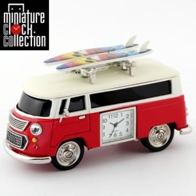 ミニチュア クロック 置時計 バス型 日本製クォーツ おしゃれ 小さい アナログ 卓上 インテリア デザイン かわいい 雑貨 レア アイテム