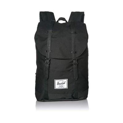 Herschel Retreat Backpack, Dark Grid/Black, Classic 19.5L 並行輸入品