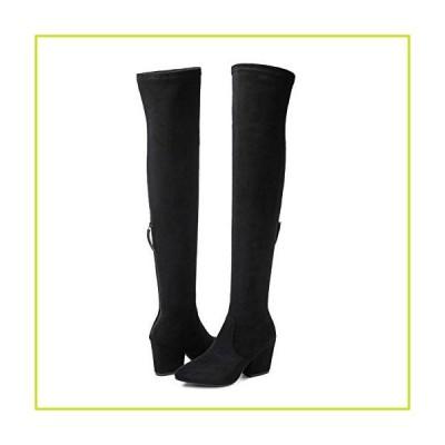 N.N.G 女性用ブーツ 冬用 膝上ロングブーツ ファッションブーツ ヒール 秋品質スエード 快適 スクエアヒ