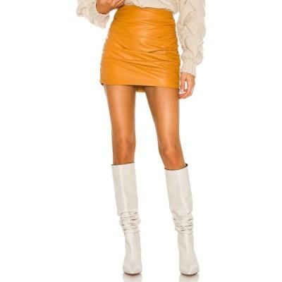 ミシェル メイソン Michelle Mason レディース ミニスカート スカート Ruched Leather Mini Skirt Copper