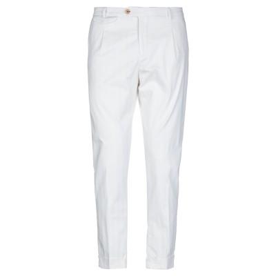 YAN SIMMON パンツ ホワイト 50 コットン 97% / ポリウレタン 3% パンツ