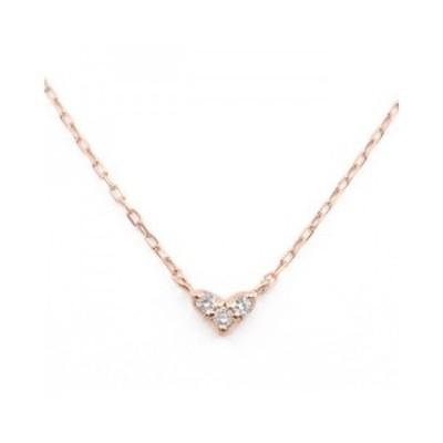ブルーム(BLOOM)/K10ピンクゴールドダイヤモンドハートネックレス