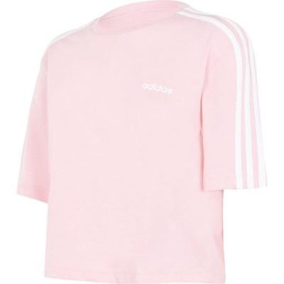 アディダス adidas レディース フィットネス・トレーニング Tシャツ トップス 3S Crop T Shirt Glory Pink