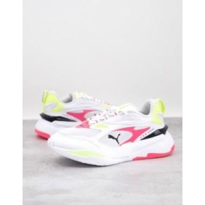 プーマ レディース スニーカー シューズ Puma RS-Fast pop sneakers in white White/blue