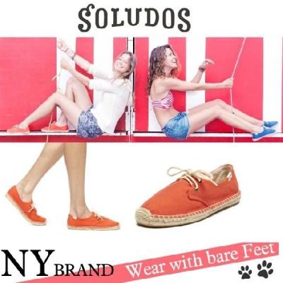 SOLUDOS ソルドス NYブランド エスパドリュー レースアップ WOMEN Canvas BOX入りTangerine 靴 カジュアル