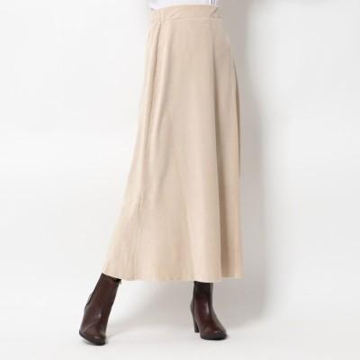 スタイルブロック STYLEBLOCK ベロアリブカットソーマーメイドロングスカート (アイボリー)