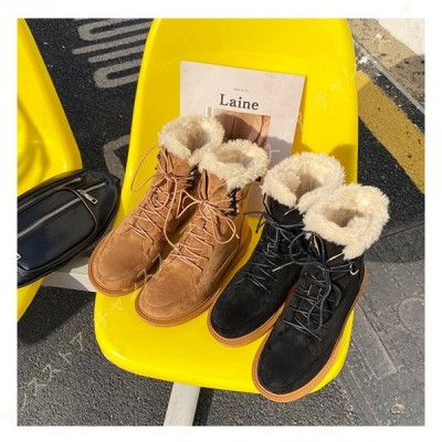 スノーブーツ レディース ショート ブーツ ムートンブーツ 防寒 ハイカット ウィンターブーツ 裏起毛 雪靴 防寒ブーツ 防滑 冬用ブーツ スノーシューズ