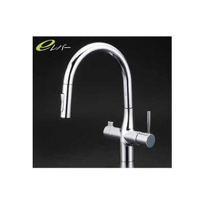 KVK キッチン 【KM6081EC】 浄水器専用グースネックシングルレバー式混合栓(eレバー) [新品]