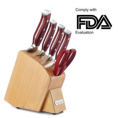 キッチンナイフセット 包丁セット 6点セット キッチンハサミ スタンド付 McCook MC40 Forged Triple Rivet Kitchen Knife Set