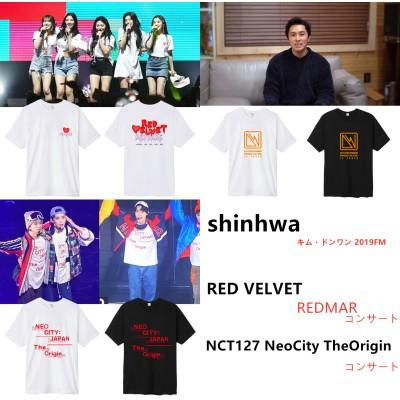 shinhwaキム・ドンワン・RED VELVE ・TNCT127 NeoCity TheOrigin同じデザイン 半袖Tシャツ 韓国ファッション  男女兼用  トップス 韓国 K-POP 応援服
