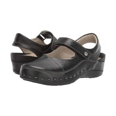 Wolky ウォーキー レディース 女性用 シューズ 靴 クロッグ ミュール Strap Cloggy - Black
