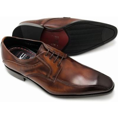 定価13,200円を25%OFF 在庫限り【ANTONIO DUCATI DC1232】アントニオドゥカティ 日本製 本革  紐流れモカ メンズビジネスシューズ 紳士靴  ブラウン