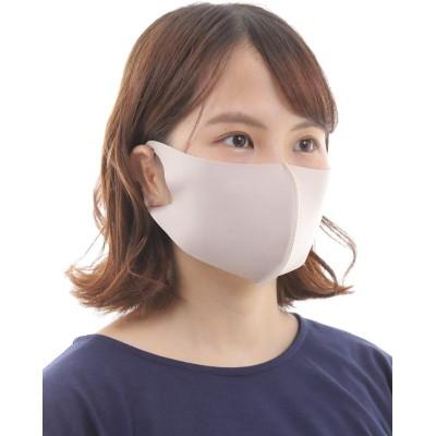 洗える マスク 夏用 UV加工 吸汗速乾 抗菌作用 感染予防 レディース d【ベージュ】