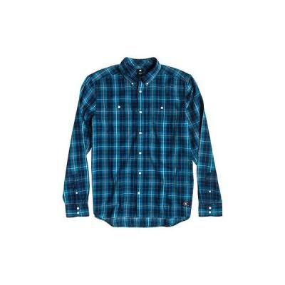 カジュアル シャツ DC South Ferry Long Sleeve Shirt メンズ ユニセックス Flannel (Indigo Ferry, M)