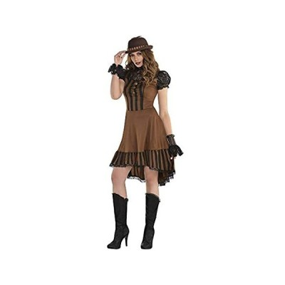 amscan 8400285 Adult Steampunk Dress, One Size, Brown