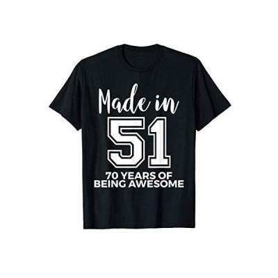 1951年に生まれた70歳の誕生日 Awesome 70歳のギフト Tシャツ