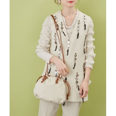 HASHIBAMI / SHAKECASE / 【HASHIBAMI】クランプル キャンバス 巾着バッグ WOMEN バッグ > ショルダーバッグ
