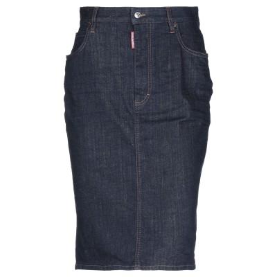 ディースクエアード DSQUARED2 デニムスカート ブルー 38 コットン 98% / ポリウレタン 2% / 牛革(カーフ) デニムスカート