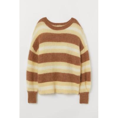 H&M - ウールブレンドセーター - イエロー