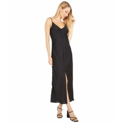 フリーピープル ワンピース トップス レディース Smoke & Mirrors Maxi Slip Dress Black