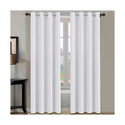 H.Versailtex 窓用カーテン2枚セット お部屋を暗くして熱を遮断 グロメット付き 灰白色 寝室用 1枚52×63インチ 52W x 84L