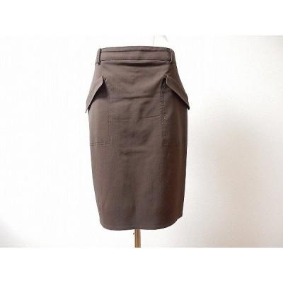 #anc ブルマリン BLUMARINE スカート 42 プリーツ 茶 レディース [584910]