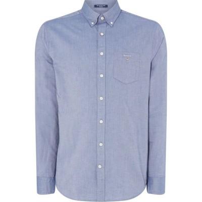 ガント Gant メンズ シャツ ワイシャツ トップス Long Sleeve Oxford Shirt Navy