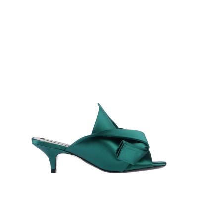 ヌメロ ヴェントゥーノ N°21 サンダル エメラルドグリーン 37 紡績繊維 サンダル