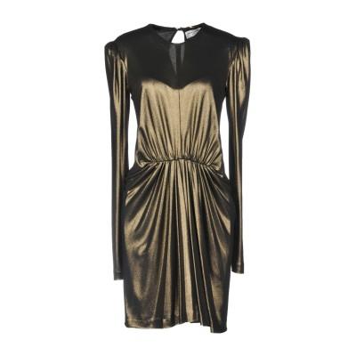 SAINT LAURENT ミニワンピース&ドレス ブロンズ 40 レーヨン 100% ミニワンピース&ドレス