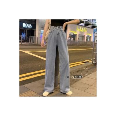 【送料無料】女性のジーンズ ストレート ルース ワイドレッグ ハイウエスト 秋冬 パ   364331_A64447-9740192