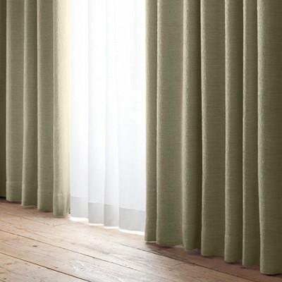 ユニベール 厚地カーテン エコパレット チョコレート(1枚) チョコレート 巾100cm×丈105cm