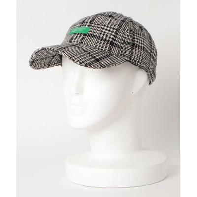 LB/S / チェックポリウールキャップ  6パネル ローキャップ WOMEN 帽子 > キャップ