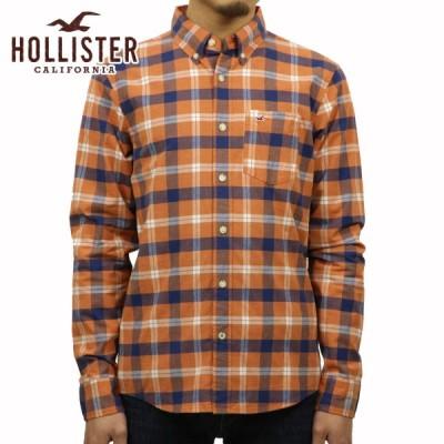 ホリスター シャツ メンズ 正規品 HOLLISTER 長袖シャツ  Plaid Poplin Shirt Epic Flex 325-259-1598-708